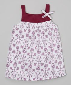 This Purple Tribal Pin Tuck Dress - Infant, Toddler & Girls is perfect! #zulilyfinds