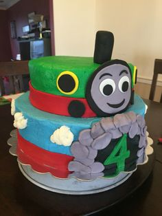 Percy the Train Birthday Cake