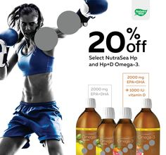 Save 20% off select NutraSea Hp and Hp+D Omega-3!