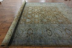 12 X 18 Traditional Overdyed Full Pile Area Rug