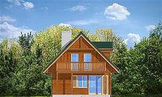 Projekt domu D03 Grześ drewniany 84,66 m2 - koszt budowy 76 tys. zł - EXTRADOM Home Fashion, Cabin, House Styles, Home Decor, Decoration Home, Room Decor, Cabins, Cottage, Home Interior Design