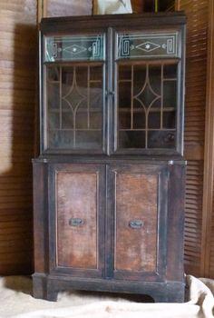 Windsor Bookcase Cabinet Vintage Art Deco Poppy by poppycottage