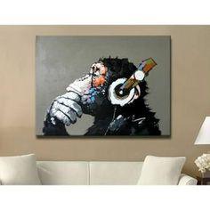 Keith Haring Pop Art Impression sur Toile de Bande Dessin/ée Peinture /À lhuile pour Le Salon Chambre Toile Art Imprimer Peinture Murale Abstraite A 40x50cm