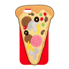 """<P>You had me at pizza. This light up silicone cover is shaped like a slice of pizza with all your favorite toppings. Fits iPhone 6 and 6s.</P><UL><LI>Lights up <LI>3 5/8""""L x 5 3/4""""H <LI>Fits iPhone 6 & 6s <LI>Silicone</LI></UL>"""