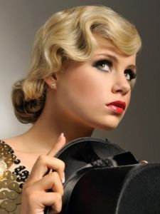 Pictures : Prom and Homecoming Hairstyles - Vintage Finger Waves Updo Hair Style