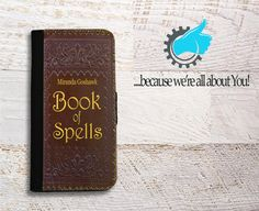 Wallet Phone Case Harry Potter inspired Book of by YouCustomized