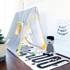 Create an indoor playground with our Striped Kids Tent - http://www.fermliving.com/webshop/shop/kids-tent-1.aspx