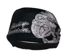 Harley-Davidson Women's Skull Paisley Headband Scrunchie Black HE02330