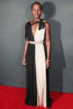 Lupita Nyong'o Incontestably this year's breakout star, the 12 Years a Slave actress has already exhibited an amazing display of red-carpet style. Donning everything from Chanel to Christopher Kane to Rodarte, Nyong'o quickly becoming a designer favorite. But, it's her sense for styling the frocks that makes her really stand out. Plus, did we mention she also graduated from Yale?