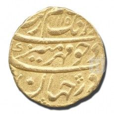 | Mohur | Aurangzeb Alamgir Ruler | Metal :	Gold | Minting Technique	: Die struck | Mint :	Ahsanabad | Mughal Dynasty |