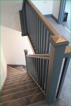 Most up-to-date Screen Carpet Stairs design Concepts One of many fastest ways to revamp your tired old staircase would b. Painted Banister, Painted Staircases, Staircase Railings, Banisters, Staircase Design, Staircase Ideas, Stair Case Railing Ideas, Stair Bannister Ideas, Stair Spindles