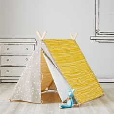 It's always playtime in Land of Nod playhouses, teepees and tents. No kids' room or playroom is complete without a steller playhouse, teepee or tent.