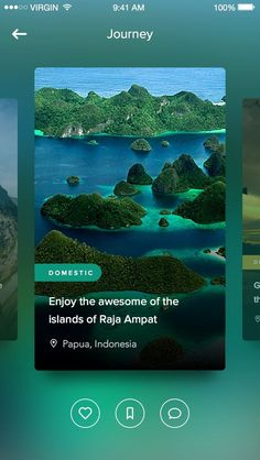 Travel journey app for iOS. #UI #UserInterface #Design:
