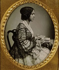Unidentified young African American woman, profile view. Daguerreotype by Thomas M. Easterly. Missouri History Museum
