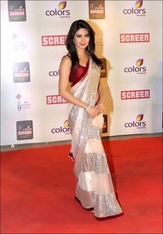 Priyanka chopra Screen Award Net Replica Saree Online Shopping - Ramdev Sarees | RA336WA45DVMINDFAS-857528