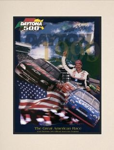 "NASCAR Matted 10.5"" x 14"" Daytona 500 Program Print Race Year: 41st Annual - 1999 by Mounted Memories. $31.99. NC02411999 Race Year: 41st Annual - 1999 Features: -Original cover art from that day's race program. -Vibrant colors restored, alive and well. -Officially licensed by NASCAR. -Suitable for readymade frames or hanging. -10.5"" W; x 14"" H; paper print. -16"" W; x 20"" H; double matte. -Made in the USA."