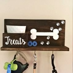 Dog Leash Holder Dog Collar Dog Tag Personalized Dog di KaysDekor