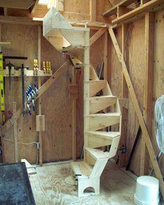 SPIRAL STAIRCASE PLANS modular design easy to build US patent Spiral Staircase build design Easy modular patent plans spiral staircase
