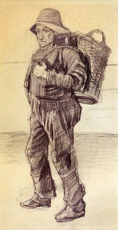 """VAN GOGH: """"PESCADOR"""". 1883"""
