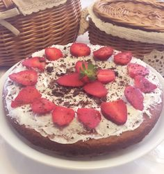 Home made cake  (Strawberry, dark chocolate,coconut)