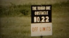 1966: Tough one obstacle course demonstration from recruit. U.S. AIR FORCE. http://www.pond5.com/stock-footage/58953818?ref=StockFilm keywords:On base, outdoors, military, training, show off, proud, closed, not in use, abandoned, climbing structure, uniformed, Colorado, Colorado Springs, USA, Air Force, Air Force Academy, exercise, lifestyle, obstacle, ropes course, viewing, 1966, Tough, one, course, demonstration, recruit