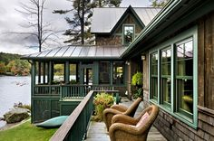 Lake Fairlee in Vermont contemporary exterior by Smith & Vansant Architects PC