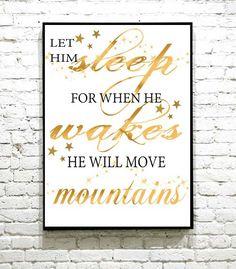 Nydelig plakat til barnerommet Move Mountains, I Shop, Sleep, Calm, Let It Be, Artwork, Work Of Art, Auguste Rodin Artwork, Artworks