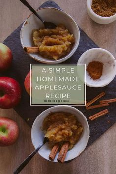 A Simple Homemade Applesauce Recipe - In Honor Of Design