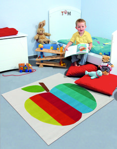 Colorful apple rug