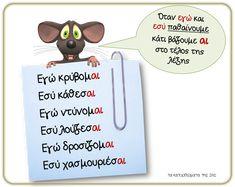 κατάληξη - αι School Hacks, School Tips, Learn Greek, Greek Language, How To Stay Motivated, Special Education, Motivation, Learning, Laura Ashley