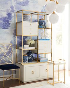 Cynthia Rowley for Hooker Furniture Swan Room Divider - Raumteiler Teen Room Decor, Home Office Decor, Living Room Decor, Bedroom Decor, Office Ideas, Room Divider Shelves, Sliding Room Dividers, Home Decor Accessories, Cheap Home Decor