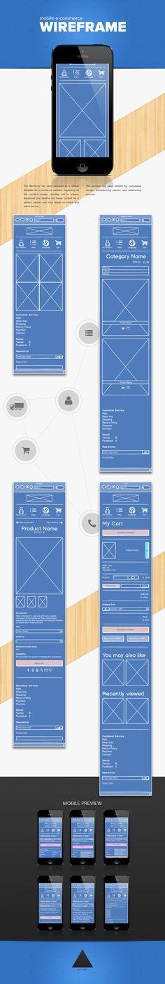 E-Commerce wireframe Concept design por Jacopo Spina, a través de Behance , Interaktives Design, Web Ui Design, Responsive Web Design, Layout Design, Marketing Mobile, E-mail Marketing, Web Mobile, Mobile Web Design, Creation Site E Commerce