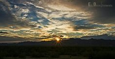 Sunset over the Mohave desert
