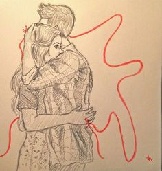 """Stydia Stiles Stilinski and Lydia Martin. """"A red invisible thread connects those who are destined to meet, no matter time, place or circumstances.The red thread may stretch, get shortened or tangled but it will never break. Cute Couple Drawings, Cute Couple Art, Cute Drawings, Drawing Sketches, Teen Wolf Stydia, Teen Wolf Dylan, Stiles Et Lydia, Teen Wolf Fan Art, Meninos Teen Wolf"""