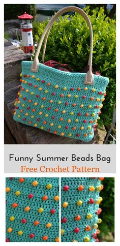 Beads Bag Free Crochet Pattern #freecrochetpatterns