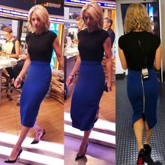 💎 wears a knit top and pencil skirt from Tops, Roland, Pencil Skirt, Skirts, How To Wear, Knit Top, Roland Mouret, Style, Fashion