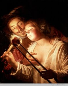 The soldier and the girl, by Gerard van Honthorst
