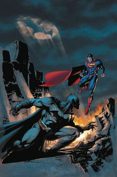 Superman And Batman Art by Jim Lee