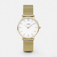 Cluse Watch - Minuit Mesh Gold/White
