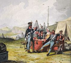 British; 10th Hussars in Camp, 1812 by Denis Dighton (1791-1827)