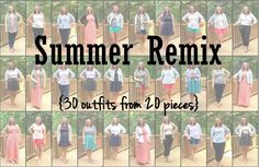 Undergraduate Style: Using 20 pieces to make 30 summer outfits!