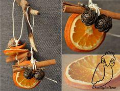Fancyhollow: decorazioni con arance essiccate e cannella
