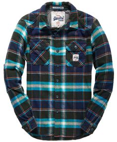 With classic and casual designs available, shop our range of men's shirts today to find the ideal items for both your daytime and evening adventures. Quilted Flannel Shirt, Flannel Shirts, Men's Shirts, Chemises Country, Casual Shirts For Men, Men Casual, Chemise Fashion, Check Shirt Man, African Men Fashion