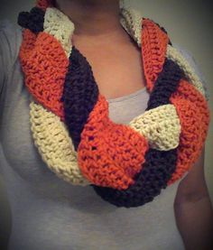 Braided Crochet Infinity Scarf/Cowl by KissMySassBoutique on Etsy, $35.00