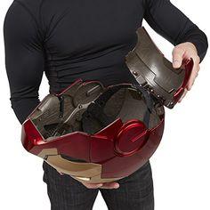 Marvel-Marvel-Legends-Iron-Man-Electronic-Helmet-Prop-Replica-Gear-0-9 Mega Man Helmet, Iron Man Helmet, Iron Man Suit, Iron Man Armor, Boba Fett Helmet, Star Wars Boba Fett, Iron Man Cosplay, Armadura Cosplay, Iron Man Action Figures