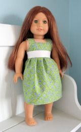 Tutorial: Sundress for an 18″ doll  (can be adapted for other sizes ! )