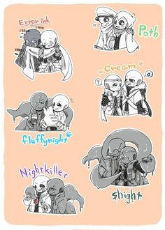 °*Undertale And Different Au*°. Chibi, Undertale, Character Art, Dreams And Nightmares, Poth, Anime, Fan Art, Comics, Sans Cute
