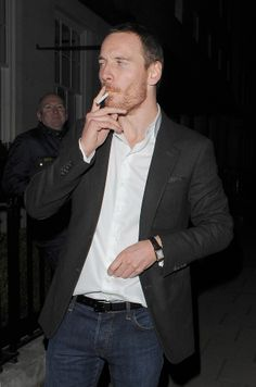 """Did you know that these stars smoke cigarettes? Here are some celebs who give a different meaning to """"smoking hot"""" Michael Fassbender, Cigarette Men, Men Smoking Cigarettes, Smoking Celebrities, Jonathan Rhys Meyers, Man Smoking, Hooray For Hollywood, Have A Laugh, Vaping"""