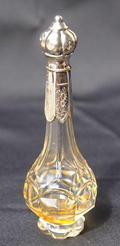 Online veilinghuis Catawiki: Kristallen odeurflacon met zilveren montuur, Hollands, ca 1860
