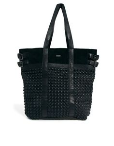 Image 1 of Maison Scotch Quilted Biker Leather Shopper Bag